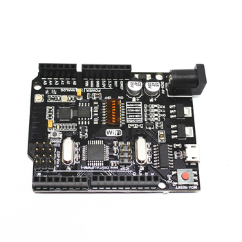 With USB Serial Converter UNO CH340G USB to TTL Development Board , WiFi R3 ATmega328P + ESP8266 For Arduino NodeMCU uno r3 development board atmega328p ch340g for arduino uno r3 with usb cable pin header acrylic case