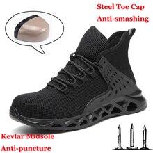 Męskie obuwie ochronne z metalowym noskiem niezniszczalne buty Ryder buty do pracy ze stalowym noskiem wodoodporne oddychające sneakersy obuwie robocze