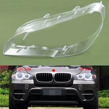 สำหรับ BMW X5 E70 E71 2007 2008 2009 2010 2011 2012 2013 ไฟหน้า COVER Shade ไฟหน้า SHELL โคมไฟเลนส์