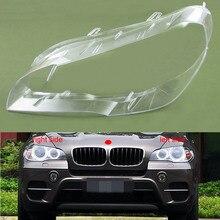 Dla BMW X5 E70 E71 2007 2008 2009 2010 2011 2012 2013 osłona reflektora odcień reflektor powłoki klosz szklana soczewka