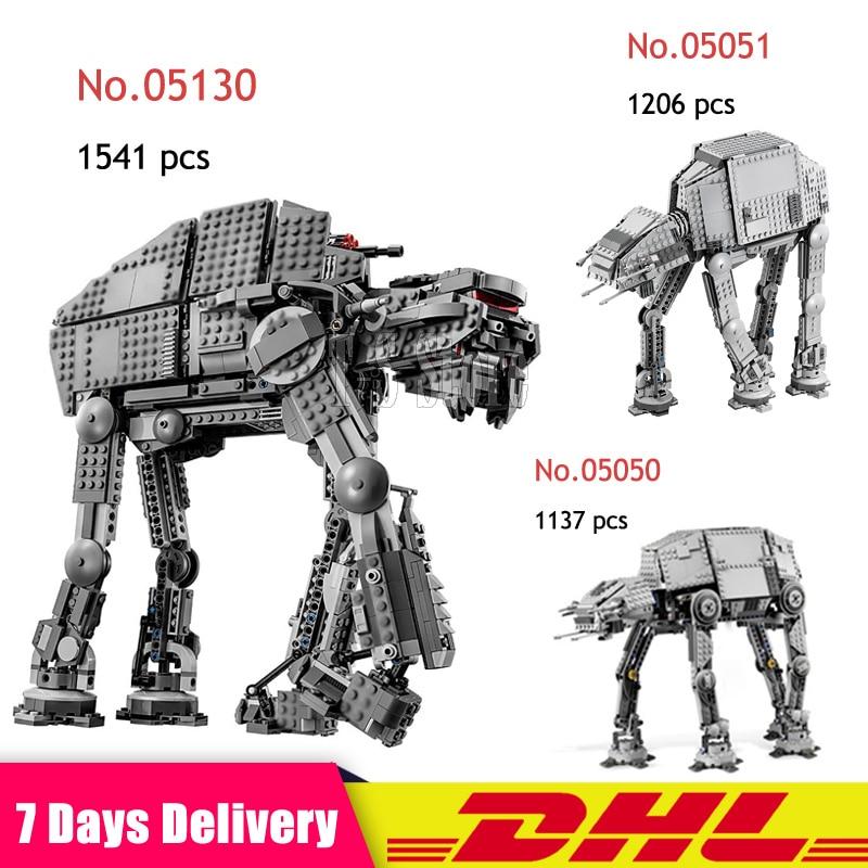 2019 IN Stock DHL 05050 05051 05130 Star War The Robot AT AT Model Building Blocks Brick DIY Kids Toys Gift