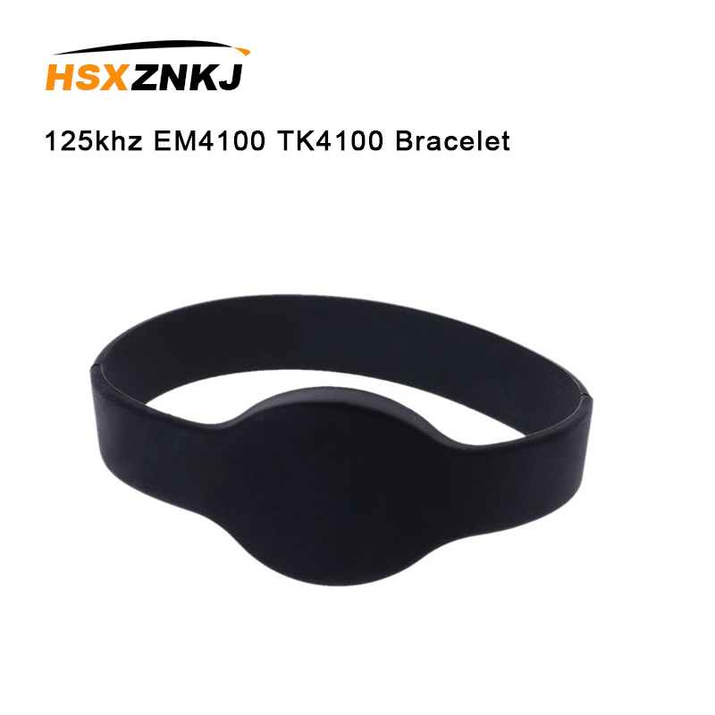 5PCS 125khz EM4100 TK4100 Read Only Access Control Card Wristband RFID Bracelet ID Card Silicone Band