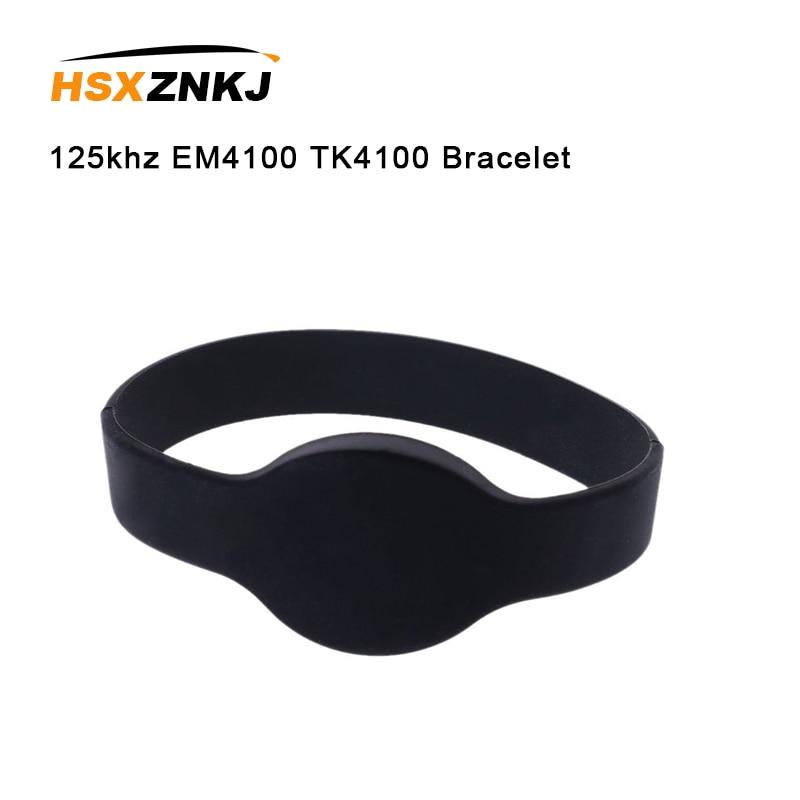 5PCS 125khz EM4100 TK4100 Read Only Access Control Card Wristband RFID Bracelet ID Card Silicone Band