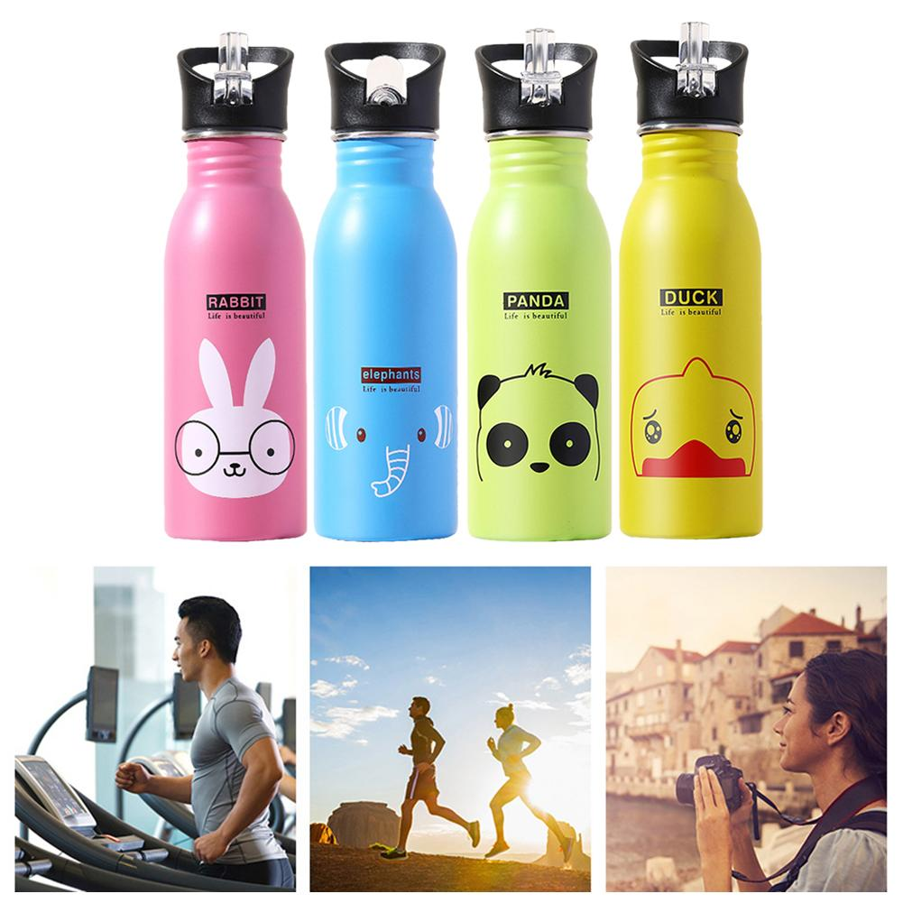 Stainless Steel Water Bottle Water Bottle Vacuum Insulated Wide Mouth Travel Portable Thermal Bottle 500ML