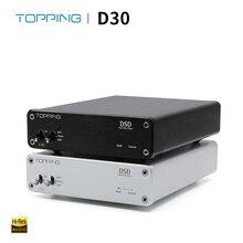 TOPPING D30 HIFI DSD DAC أمبير فك CS4398 XMOS USB DAC محلل شفرة سمعي محوري الألياف البصرية 24Bit/192KHz