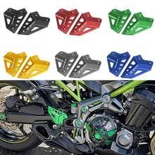 Cnc da liga de alumínio da motocicleta footpeg conjunto traseiro placas calcanhar guarda protetor para kawasaki z900 z 900 2017 2018 2019 2020