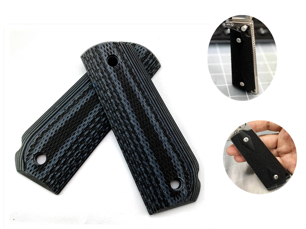 1 Pair G10 Anti-slip Hand Grips Patch Material Durable DIY Handle Scales Blank Slabs For 1911 Models