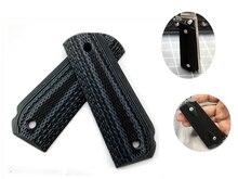 Puños de mano antideslizantes G10, 1 par, Material de parche, básculas de mango duraderas para bricolaje, losas en blanco para 1911 modelos