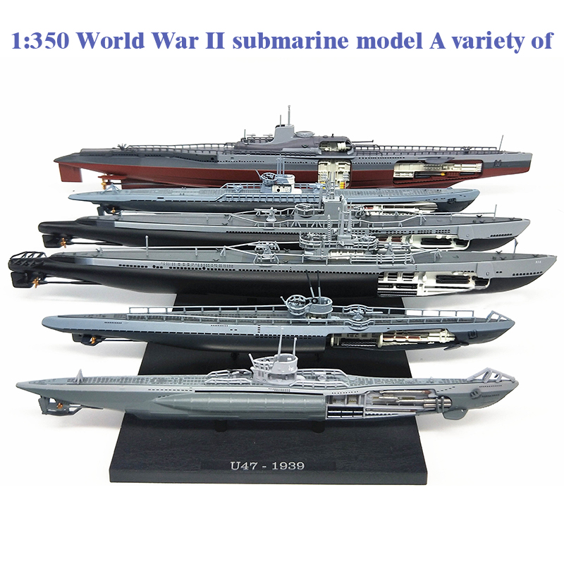 Super Value  1:350  World War II Submarine Model  A Variety Of  Atlantic U-boats  Alloy Warship Model