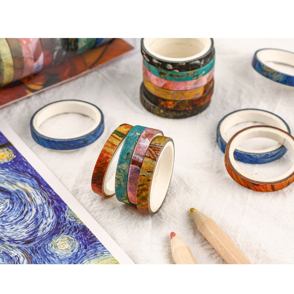 20pcs/pack Multi-color Paper Tape Scrapbooking Decorative Adhesive Tapes Paper Japanese Stationery Sticker