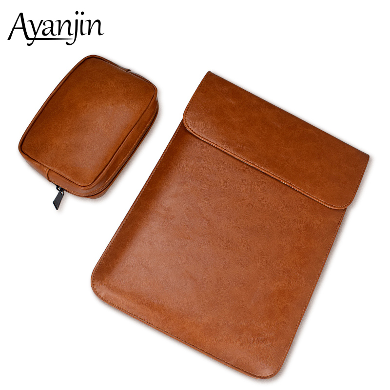Fashion PU Leather Laptop Sleeve Bag For font b Macbook b font Air 13 Pro 11