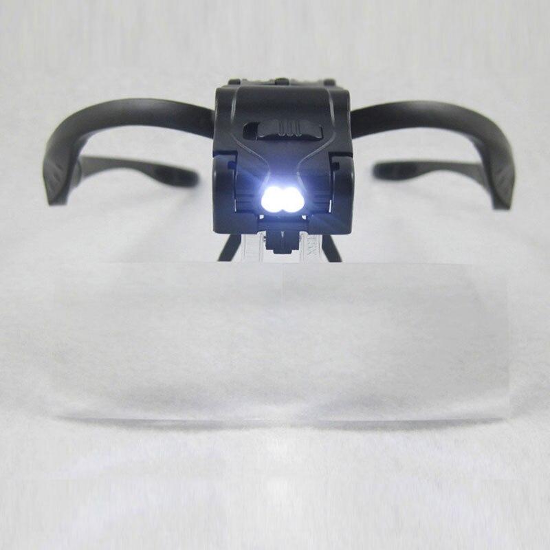 Kahe LED-lambi, klambri ja peapaelaga kaasaskantav suurendusklaas on - Mõõtevahendid - Foto 5