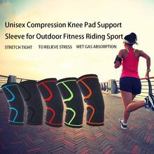 1PC Knee Pad Unisex Breathable Compression Knee Pad Support Sleeve for Outdoor Sports Elastic Comfortable
