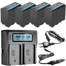 7800mAh NP F970 NP F970 כוח תצוגת סוללה + אולטרה מהיר LCD כפולה מטען עבור SONY F930 F950 F770 F570 CCD