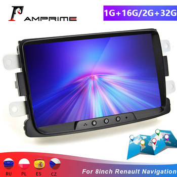 AMPrime 2 din Car Radio player 8'' Multimedia Player 1+16G/2+32G MP5 GPS FM Mirror Link Bluetooth For Renault Radio Autoradio image