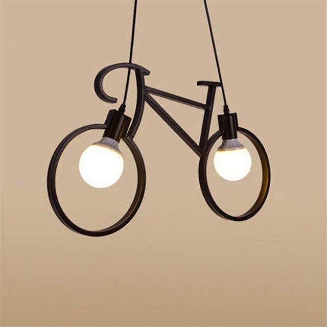 Industrieël Retro Ijzeren Fiets Hanglamp 2