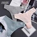 ALLMIX 2021 новая сексуальная женская обувь хлопковые стринги с низкой талией Стринги нижнее бельё для девочек бесшовные спортивные трусики удо...