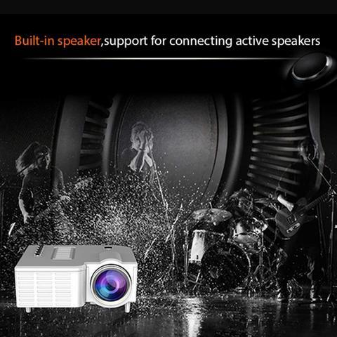 uc28c 167 m mini projetor alto falante embutido