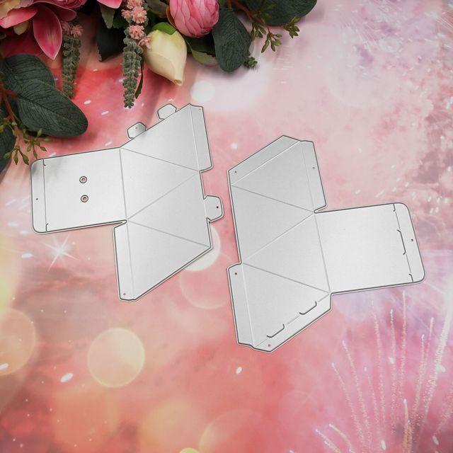 Große Neue Diamant Box Metall Schneiden Stirbt Überraschung Box Schablone für DIY Scrapbooking Präge Stirbt 2020