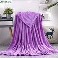 ZHUO MO фиолетовые одеяла постельное белье сплошной цвет для дома путешествия мягкие квадратные фланелевые одеяла на кровать пледы одеяло