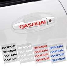 4 шт./компл. дверные ручки автомобильные наклейки индивидуальные характеристики Тюнинг автомобилей автомобиля украшения для Nissan Qashqai New Мур...