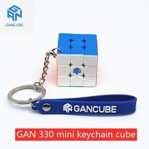 GAN330 брелок-кубик 3x3x3 головоломка магический куб 3x3 кубики скорости Ганс кубики брелок GAN 330 мини куб magico профессиональные игрушки keychain cube magic ...