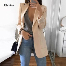 Elsvios 5XL Women Autumn Business Jacket Spring Office Lady Slim Coat Outwear Ca