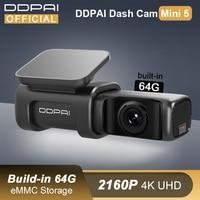DDPAI Dash Cam Mini 5 UHD DVR Android Auto Kamera 4K Build-in Wifi GPS 24H Parkplatz 2160P Auto Stick Fahrzeug Video Recroder Mini 5