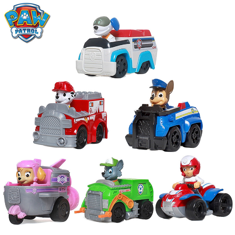 New Paw Patrol Dog Toy Set Puppy Patrol Marshall Rocky Zuma Rescue Big Bus Patrol Car Ryder Captain Patrol Kids Birthday Gift