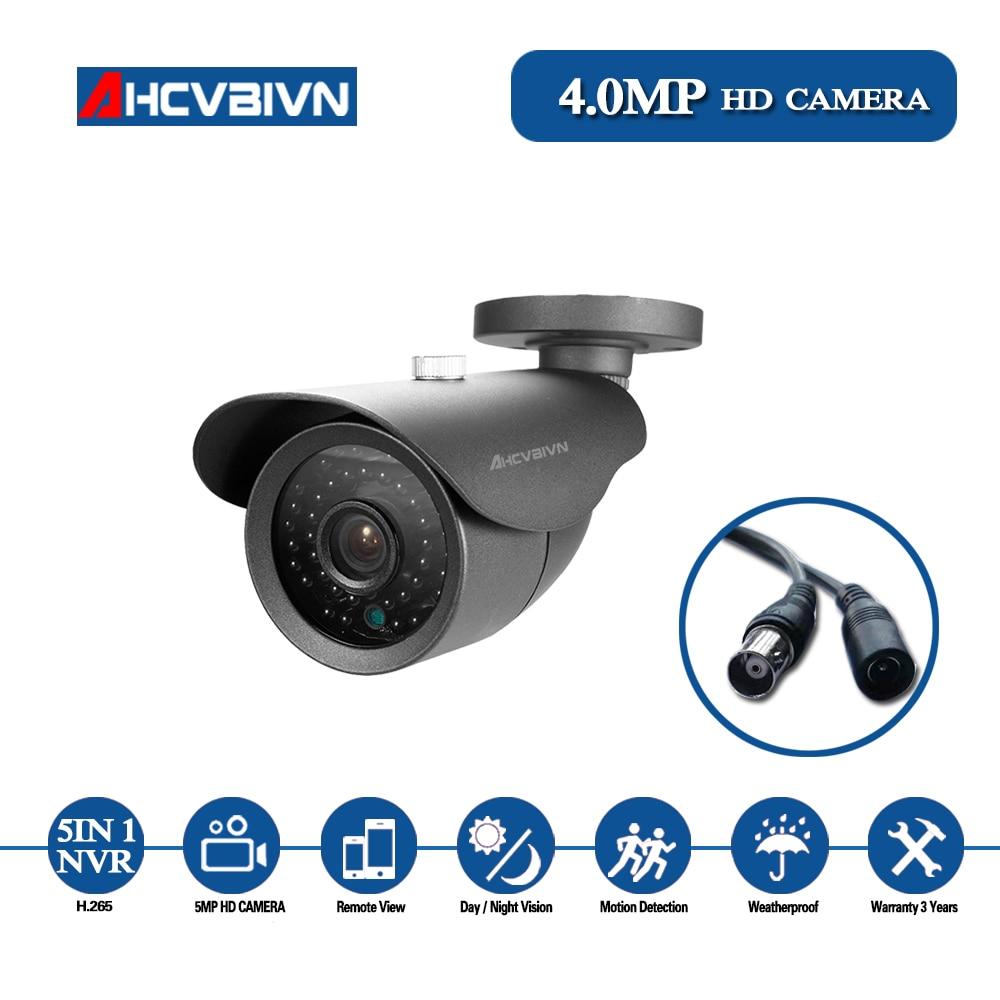 4 Camara de Seguridad Exterior Vision Nocturna a Prueba de Intemperie 1080P HD