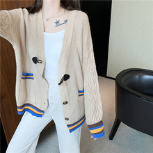 2019 Lady wool Sweater Fashion Long Cashmere Cardigan Women loose sweater for female outerwear Single-breasted Coat with pockets