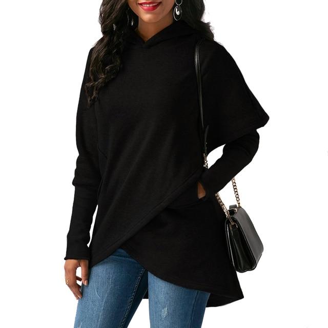 Women Hoodies Sweatshirts Autumn Winter Long Sleeve Pocket Pullover Hoodie 3