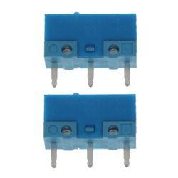 2 sztuk oryginalny HUANO niebieska kropka niebieski powłoki 0.74N myszy mikro przełącznik stop złota kontaktów 50 milionów życia