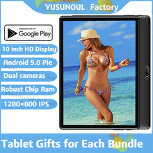 2021 Google Play 10 inch Tablet PC 1280*800 IPS HD Resolution Android 9.0 Pie Dual Cameras Rear 5.0 MP Dual Sim wifi планшет Pad
