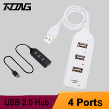 TATING Universal USB Hub 4 Port USB 2.0 with Cable High Speed Mini Hub Socket Pattern Splitter Cable Adapter for Laptop PC