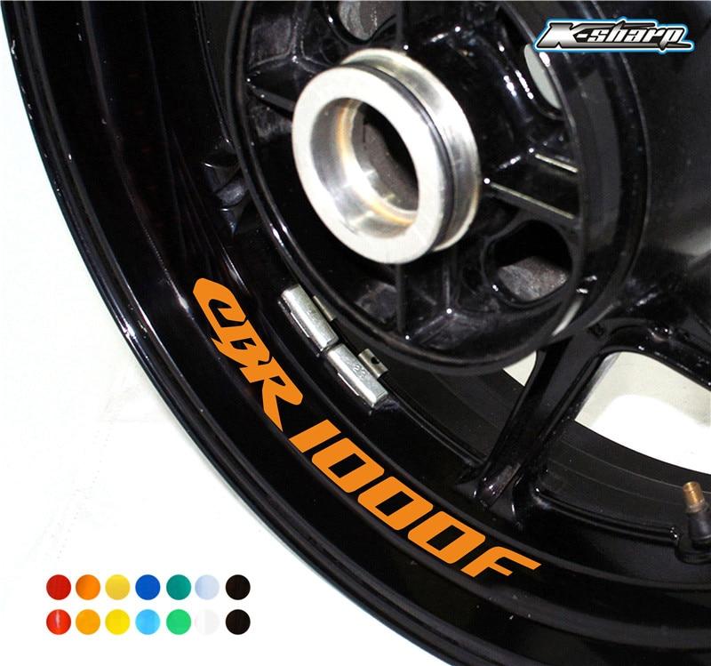 New Sale 8 X Custom Inner Trophy Sign Rim Decoration Decals Wheel Reflective Stickers Stripes Fit Honda CBR1000F CBR 1000 F