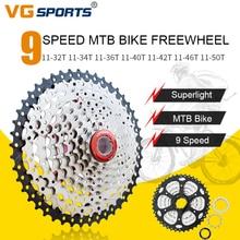 цена на VG sports 9 speed MTB Bike Cassette Freewheel Gear Ratio 32T/34T/36T/40T/42T/46T/50T For Mountain Bicycle Shimano Sprocket