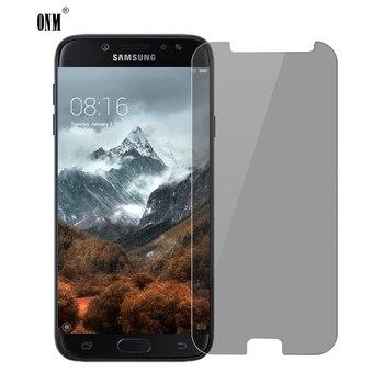 Перейти на Алиэкспресс и купить Закаленное стекло для защиты экрана samsung Galaxy J7 Pro, защита экрана 2.5D Arc Edge, защита от подглядывания