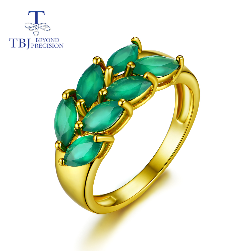 TBJ,new Style Hot Sales Natural Green Agate 925 Sterling Silver Fashion Fine Jewelry For Girl & Women Anniversary Or Daily Wear