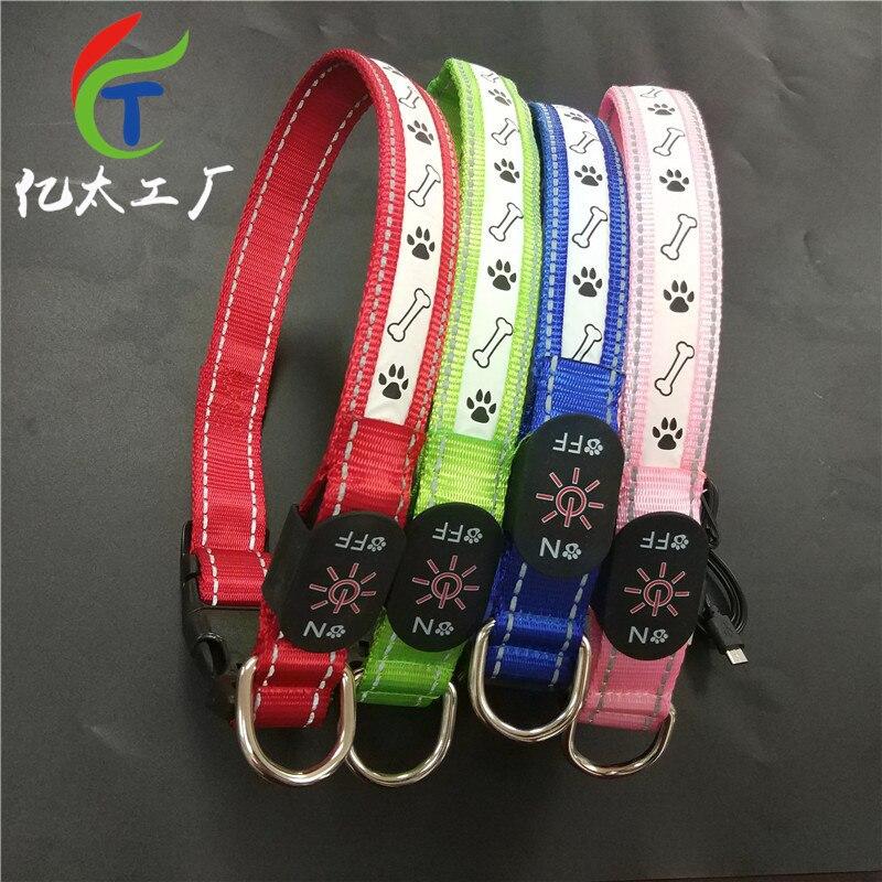 USB Charging Kit Pet LED Luminous Dog Collar Hand Holding Rope Night Light Flash Light-emitting Supplies