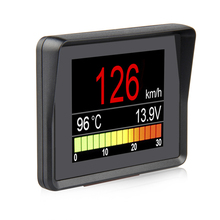 Ordenador a bordo A203 OBD2, pantalla Digital para coche, velocímetro, medidor de consumo de combustible, medidor de temperatura, escáner OBD2
