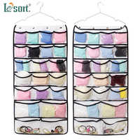 42 Pocket Hanging Closet Organizer for Pants Bra Socks Jewelry Storage Bag Wardrobe Closet Organizer hanging pocket organizer