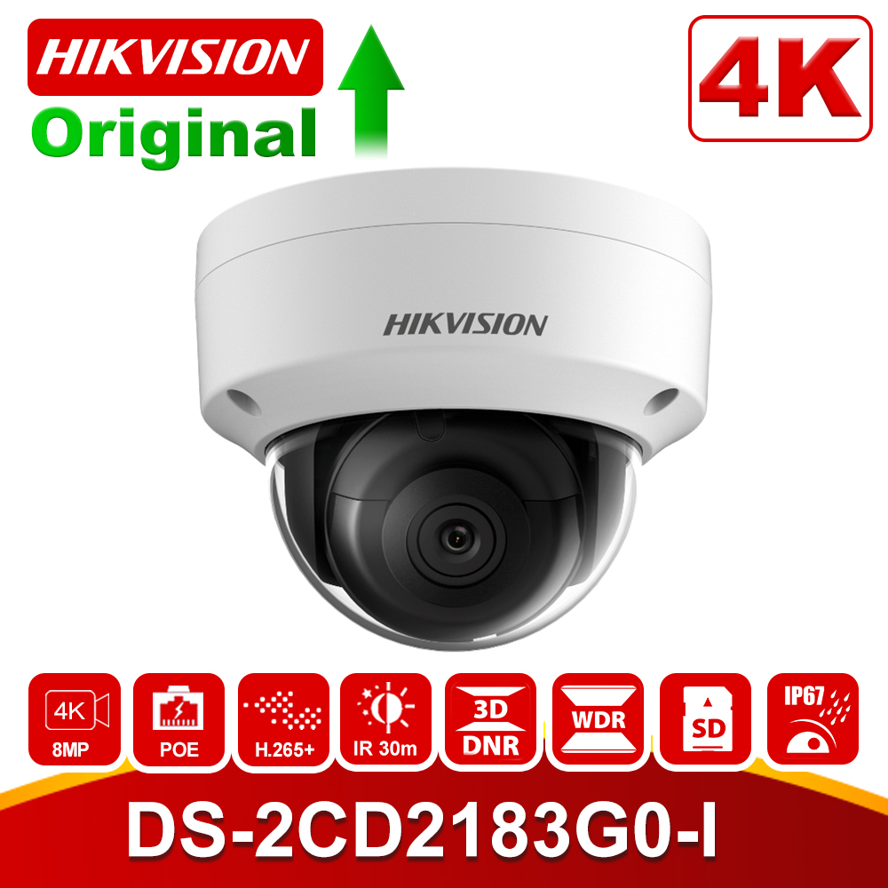 Hikvision 8MP POE IP Camera DS-2CD2183G0-I HD 4K Waterproof Infrared 30m Night Vision Security Video Surveillance Camera