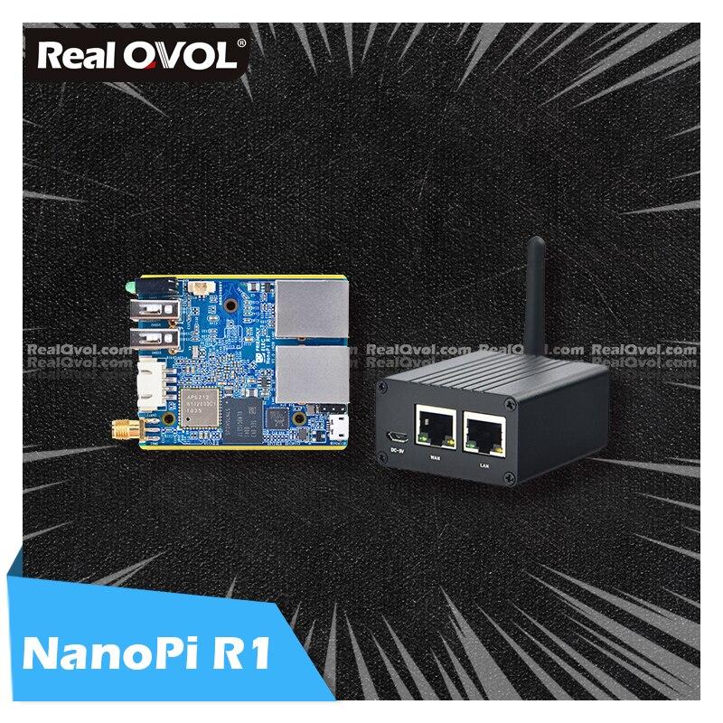 RealQvol FriendlyELEC ELEC NanoPi R1 Allwinner H3 Гбит/с Ethernet бортовой Wifi Bluetooth OpenWRT система linux