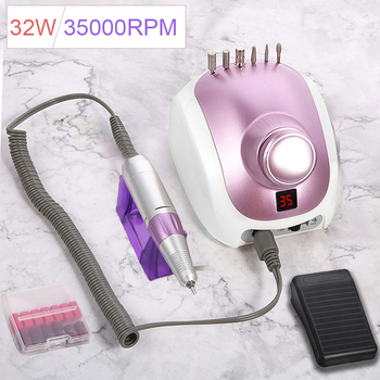 ophir 65w 35000rpm electric nail drill machine nail file manicure pedicure dental grinding machine nail tool polishing kit kd157 32W Upgraded version of Nail Drill Machine 35000RPM Pro Manicure Machine Manicure Pedicure Kit Electric File Nail Art Tool