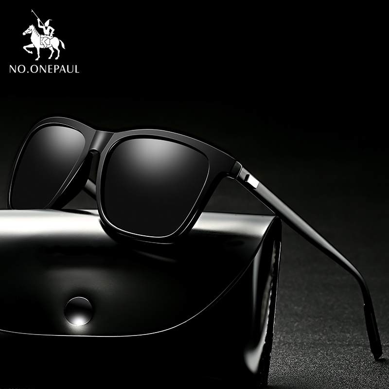 NO.ONEPAUL NEW Polarized Goggle UV400 Fishing Eyewear Men Metal Sunglasses Men Driving Square Style Sun Glasses Male