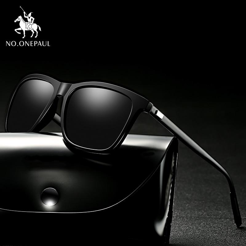 NO.ONEPAUL NEW Polarized Goggle UV400 Fishing Eyewear Men Metal Sunglasses Men Driving Square Style Sun Glasses Male
