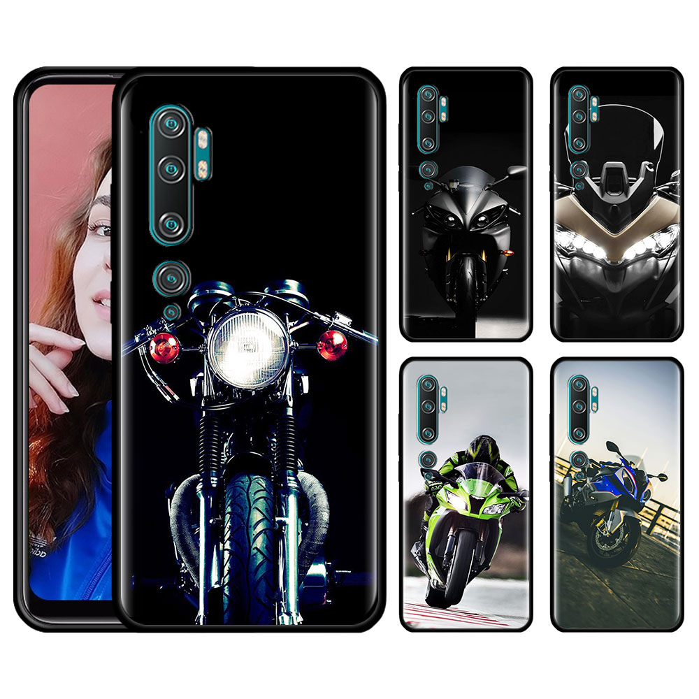 Silicone Case For Xiaomi Mi 10 9 Pro 5G 9 9SE 9T Note 10 Pro A1 9 A1 A2 8 Lite Poco F1 X2 Phone Cover Best Latest Cool Motorcycl