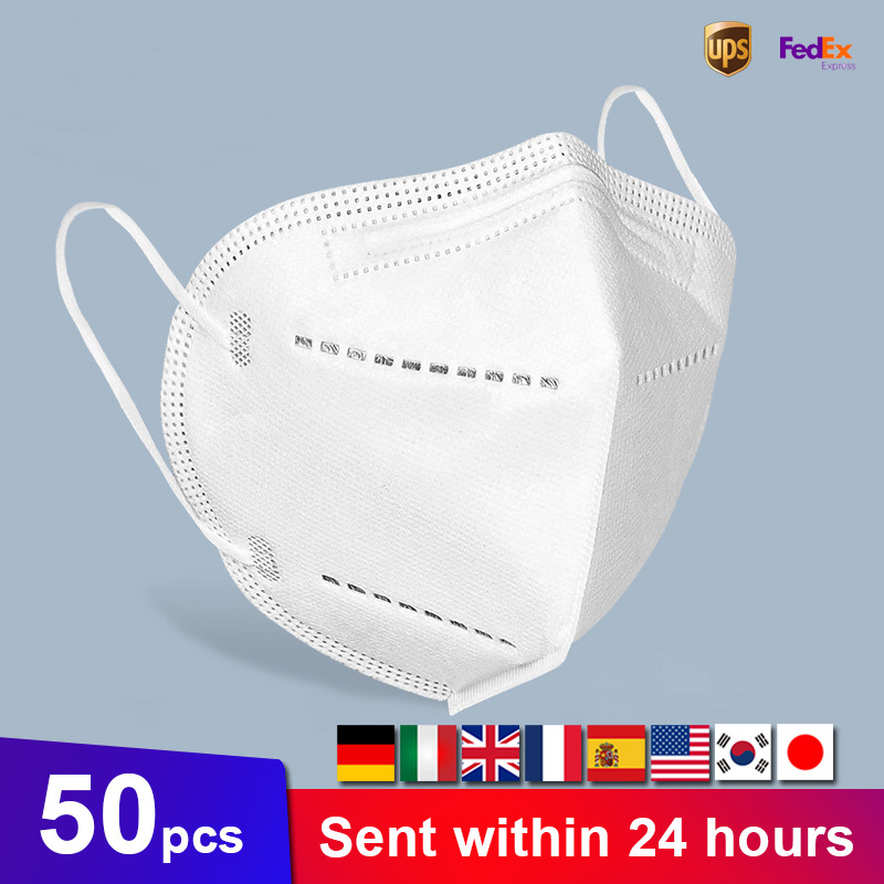 20Pcs Face Mouth Mask 5 Layer Dustproof Anti-fog Face Masks Safety Strong Protective Earloops Anti-dust Disposable Mouth Masks