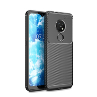 style protective For Nokia 7.2 Case Business Style Silicone Rubber Shell Coque TPU Back Phone Cover For Nokia 7.2 Protective Case For Nokia 7.2 (2)